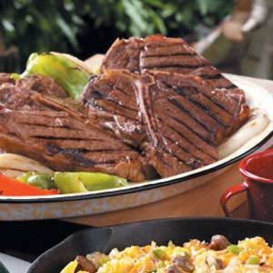 Grilled T-Bone Steaks Recipe