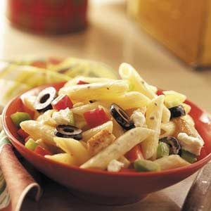 Easy Greek Pasta Salad Recipe