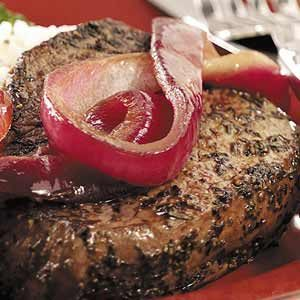 Peppered Beef Tenderloin Steaks Recipe