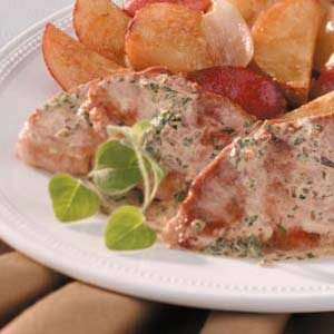 Tenderloin with Herb Sauce Recipe