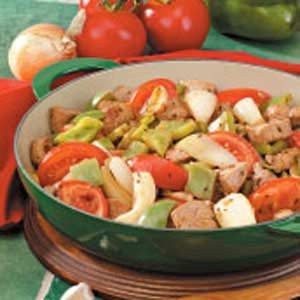 Lime Pork with Peppers Recipe