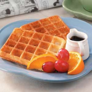Makeover Overnight Yeast Waffles Recipe
