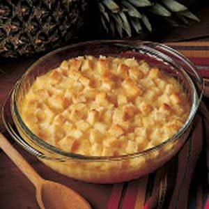 Golden Pineapple Casserole Side Dish Recipe