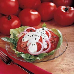 Creamy Sliced Tomatoes Recipe