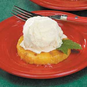 Glazed Pineapple Sundaes Recipe