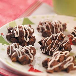 Chocolate Zebra Clusters