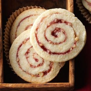 Raspberry Nut Pinwheels Recipe