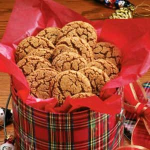 Molasses Sugar Cookies Recipe