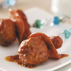 Mini Hot Dogs 'n' Meatballs Recipe