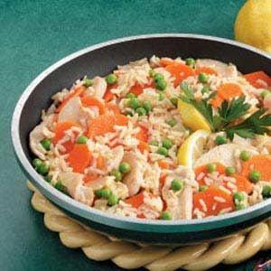 Fast Lemon Chicken and Rice Recipe