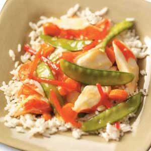 Colorful Crab Stir-Fry Recipe