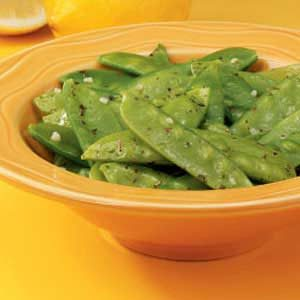 Lemon-Butter Snow Peas Recipe