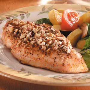 Honey-Pecan Chicken Breasts Recipe