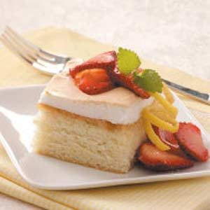 Moist Lemon Meringue Cake Recipe