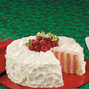 Raspberry Ribbon Cake Recipe