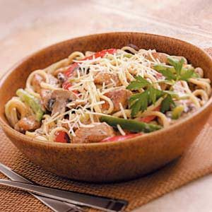 Veggie Chicken Linguine Recipe
