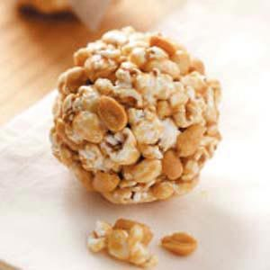 Peanutty Popcorn Balls Recipe