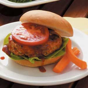 Barbecued Mushroom-Turkey Burgers Recipe