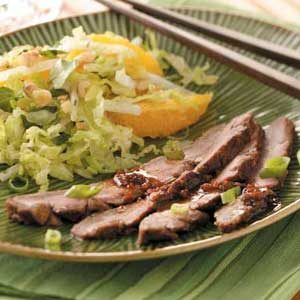 Marinated Teriyaki Flank Steak Recipe