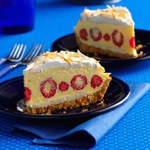 Raspberry Coconut Cream Pie