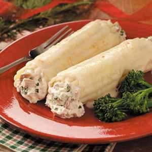 Chicken Manicotti with White Sauce Recipe