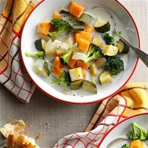 Creamy Sweet Potato and Veggie Soup Recipe