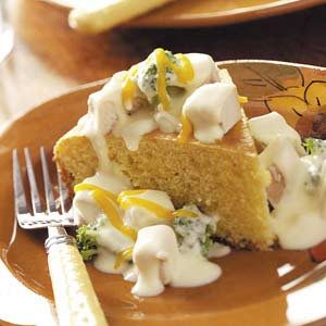 Creamed Chicken Over Corn Bread Recipe