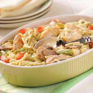 Parmesan Chicken Pasta Skillet Recipe