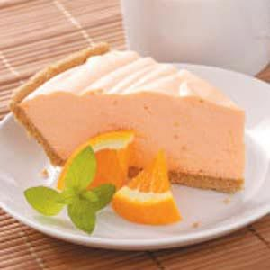 Velvety Orange Gelatin Pie Recipe