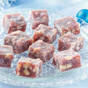 Jellied Cranberry Nut Candies Recipe