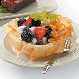 Berry-Filled Phyllo Flowers Recipe