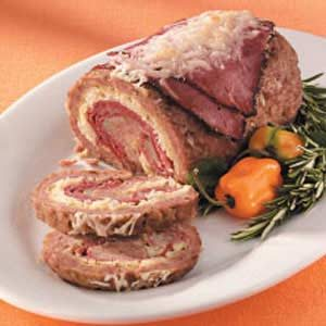 Rolled Reuben Meat Loaf Recipe