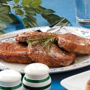 Marinated Rosemary Pork Chops Recipe