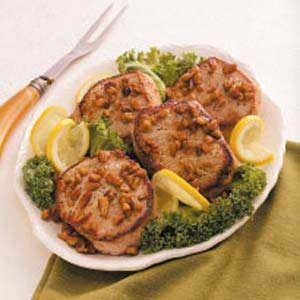 Lemon-Pecan Pork Chops
