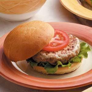 Moist Turkey Burgers Recipe