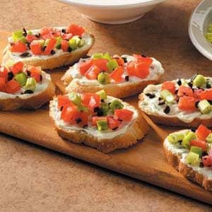 Basil Cream Cheese Bruschetta Recipe