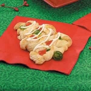Christmas Tree Danish Pastries Recipe