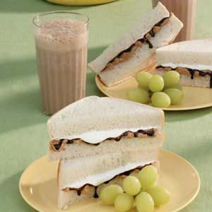 Chocolate Fluffernutter Sandwiches