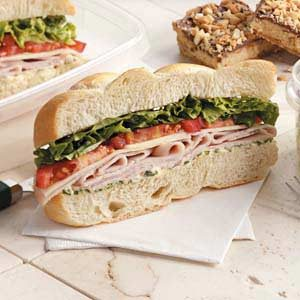 Lime-Cilantro Turkey Hoagies