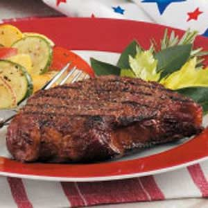 Grilled Peppered Steaks Recipe