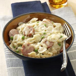 Creamy Sausage & Bow Ties Recipe