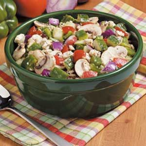Feta Veggie Salad Recipe