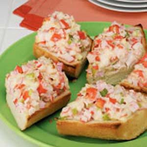 Open-Faced Crab Salad Sandwiches Recipe