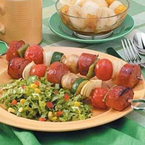 Smoked Sausage Kabobs Recipe