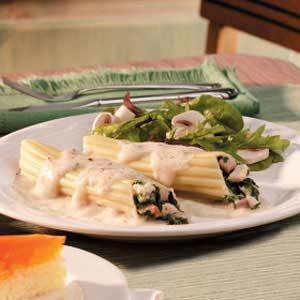Spinach Chicken Manicotti Recipe
