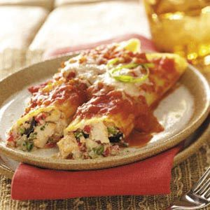Chicken Mexican Manicotti