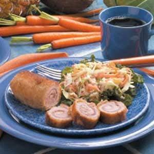 Breaded Pork Roll-ups Recipe