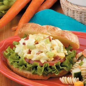 Bacon Egg Salad Croissants Recipe