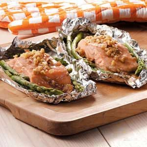Honey-Dijon Salmon and Asparagus Recipe