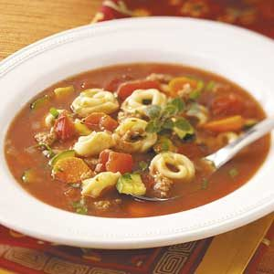 ... soup with basil garlicky tortellini soup italian sausage soup with